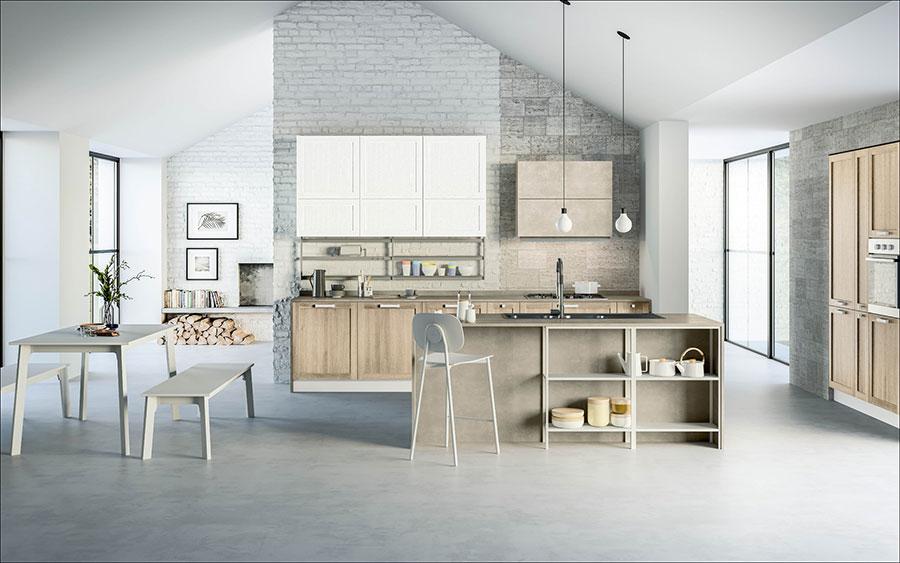 Progetto per cucina con isola e tavolo separato n.01