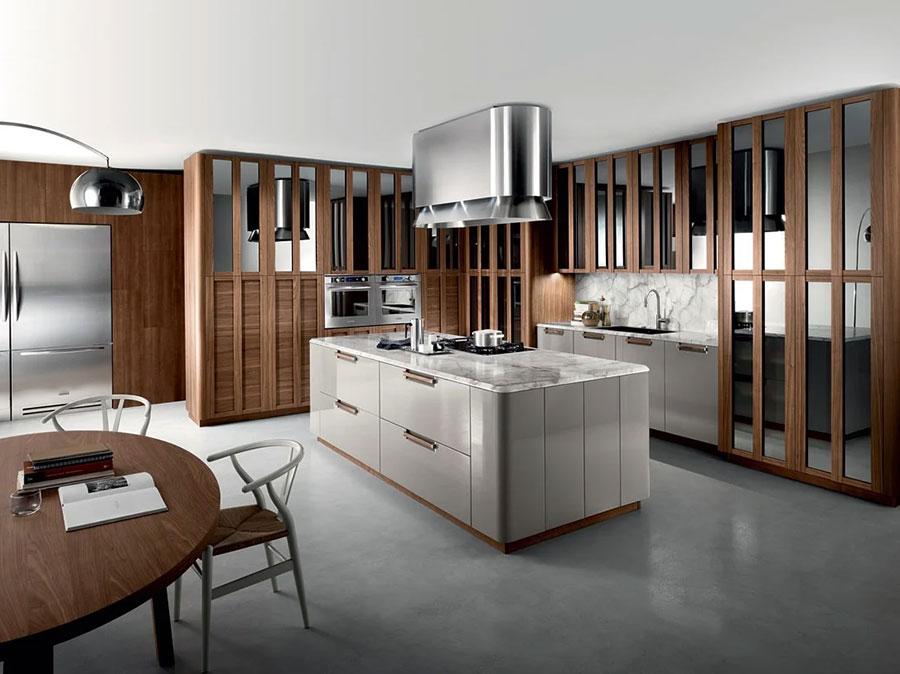 Progetto per cucina con isola e tavolo separato n.06