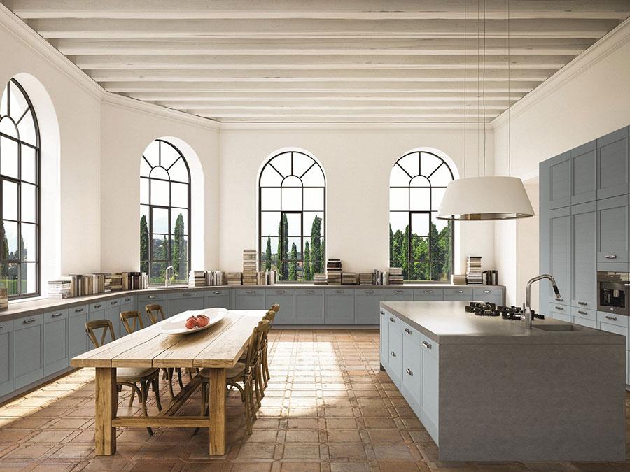 Progetto per cucina con isola e tavolo separato n.11
