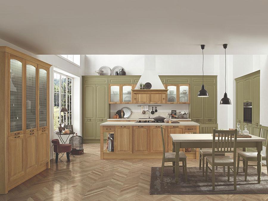 Progetto per cucina con isola e tavolo separato n.17