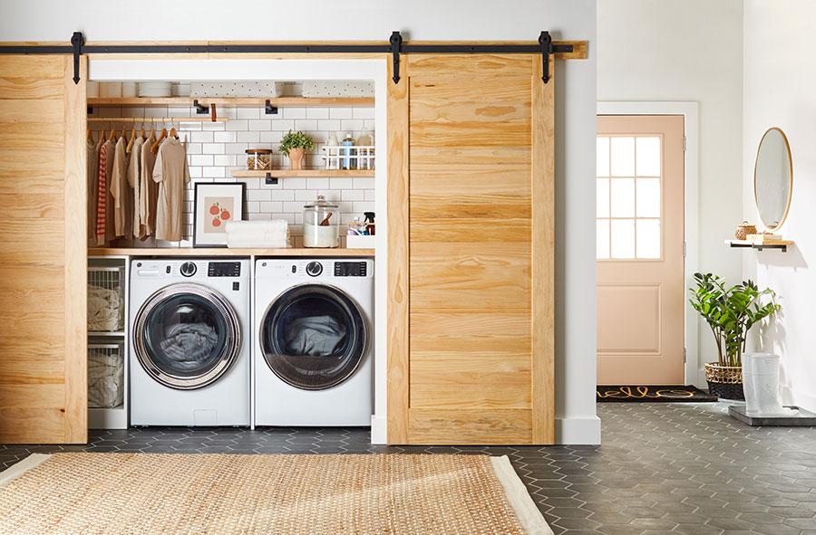 Idee per arredare la lavanderia in corridoio n.01