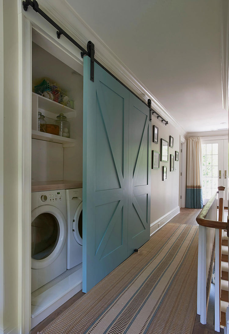 Idee per arredare la lavanderia in corridoio n.03
