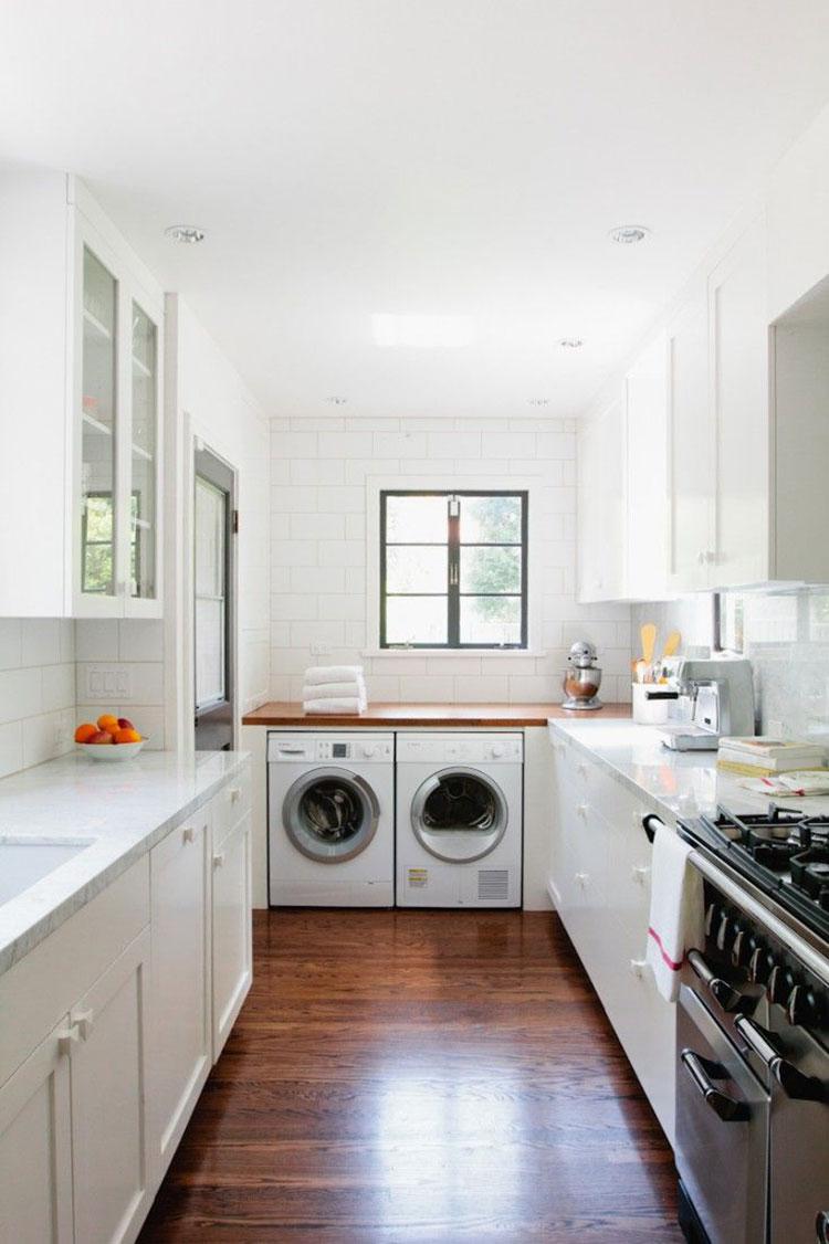 Idee per arredare la lavanderia in cucina n.03