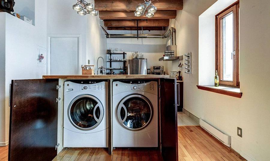 Idee per arredare la lavanderia in cucina n.05