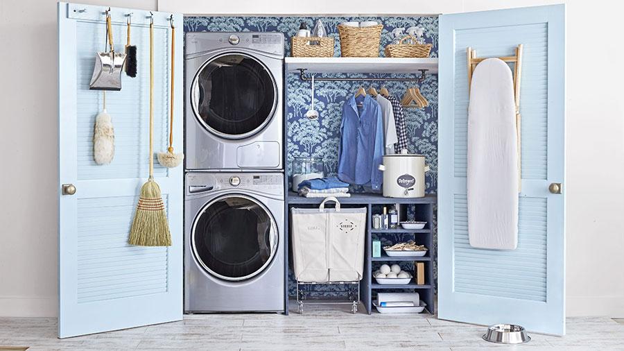 Idee per arredare lavanderia e ripostiglio n.02