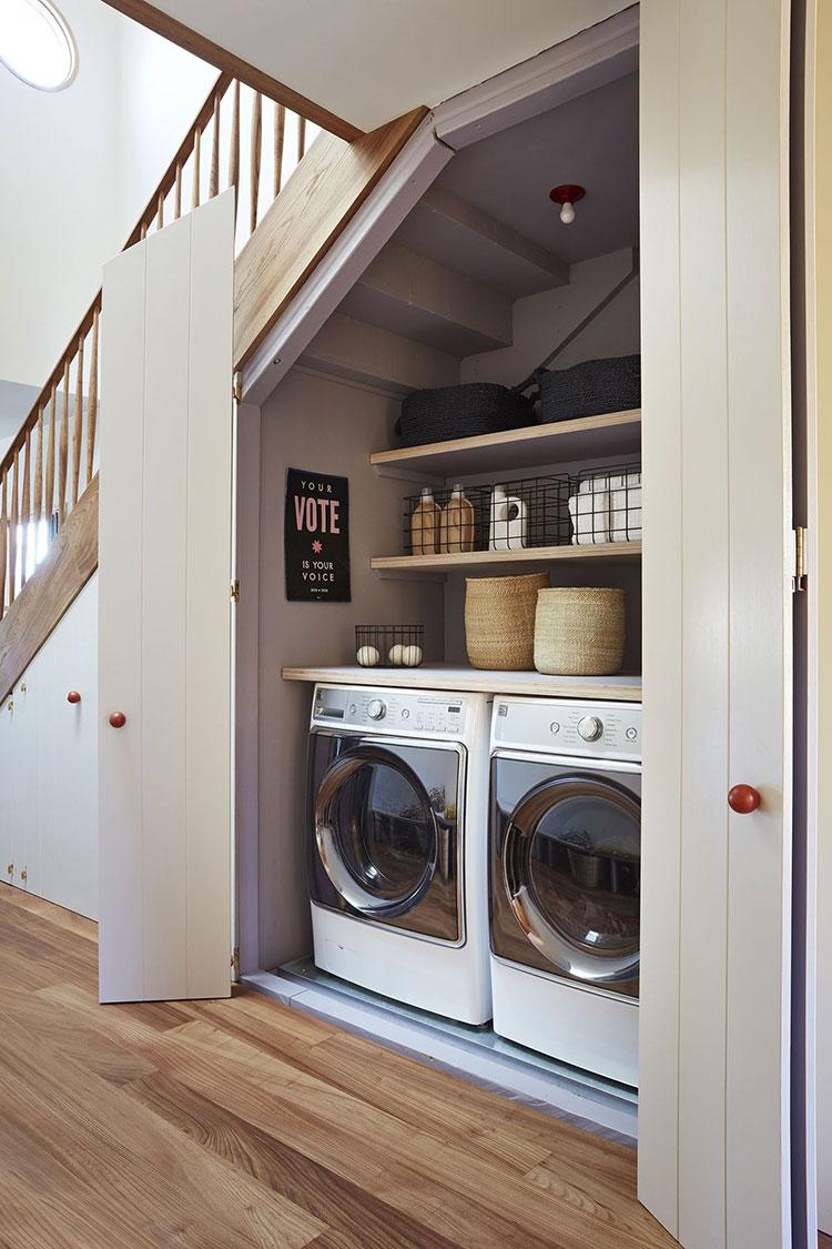 Idee per arredare la lavanderia nel sottoscala n.01