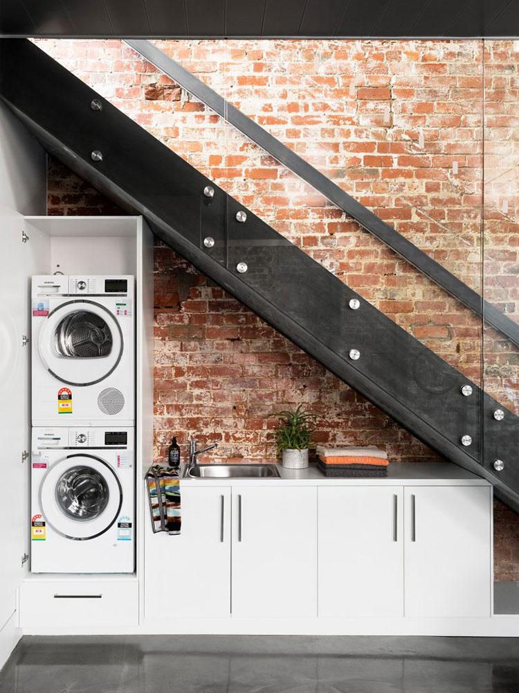 Idee per arredare la lavanderia nel sottoscala n.02