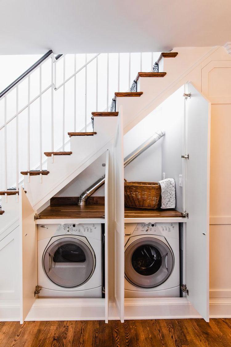 Idee per arredare la lavanderia nel sottoscala n.03