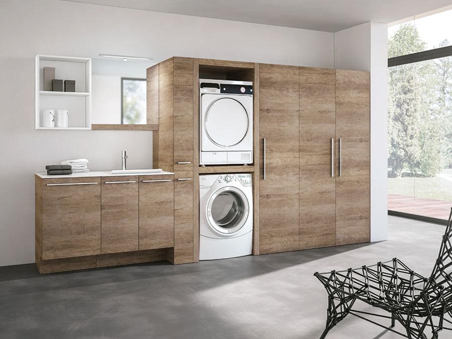 Modello di mobile per lavanderia moderna n.01