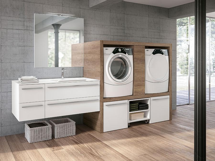 Modello di mobile per lavanderia moderna n.02