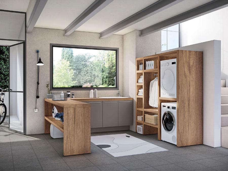 Modello di mobile per lavanderia moderna n.03