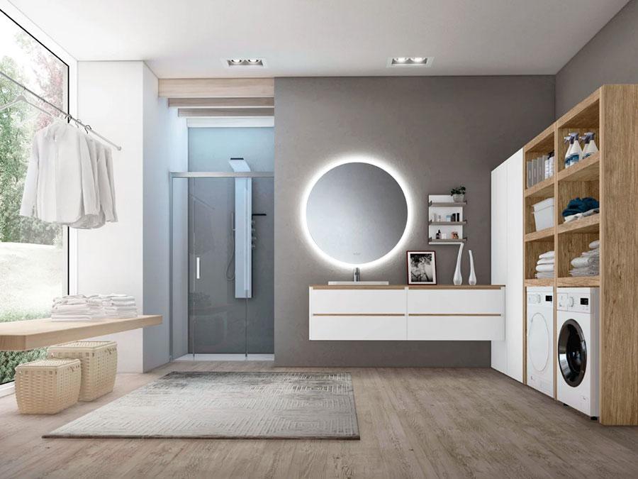 Modello di mobile per lavanderia moderna n.04
