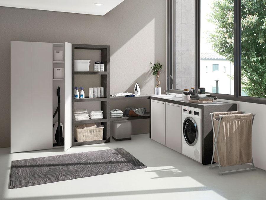Modello di mobile per lavanderia moderna n.05