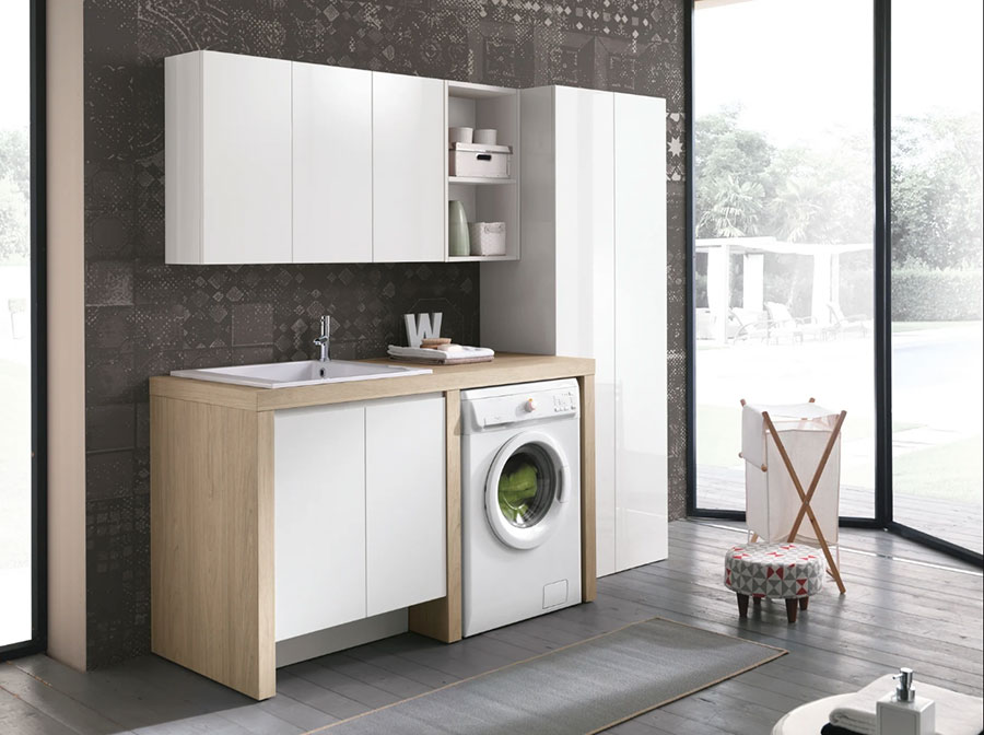 Modello di mobile per lavanderia moderna n.06