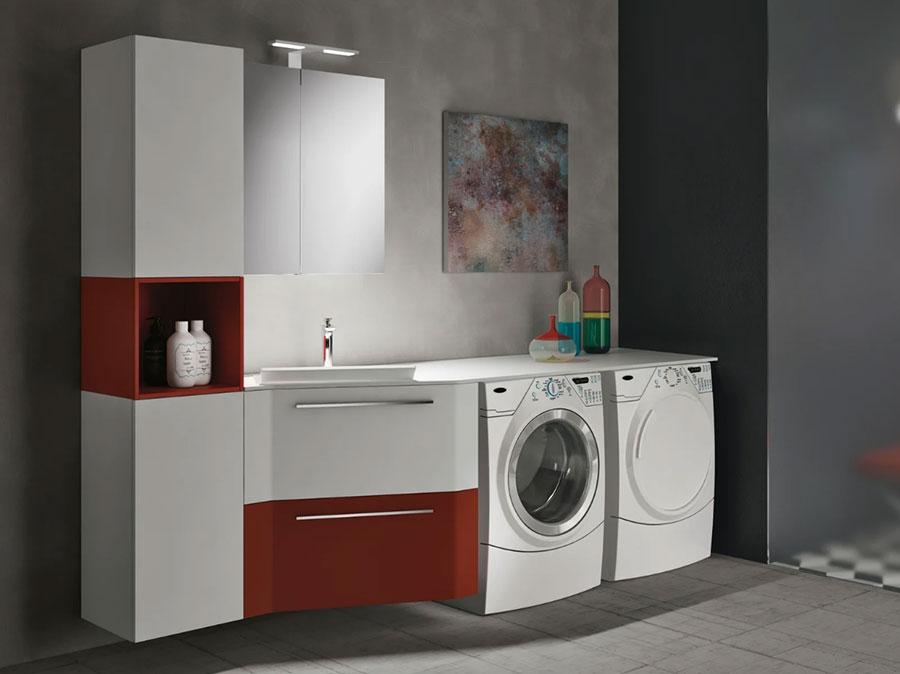 Modello di mobile per lavanderia moderna n.07