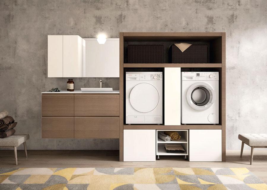 Modello di mobile per lavanderia moderna n.08