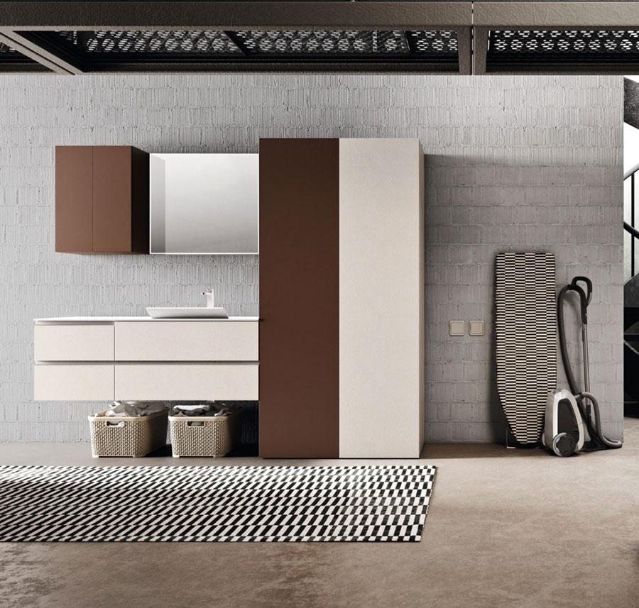 Modello di mobile per lavanderia moderna n.09
