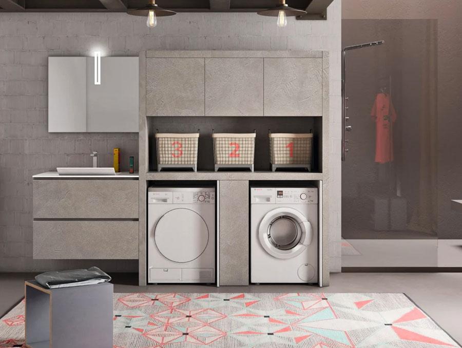 Modello di mobile per lavanderia moderna n.10