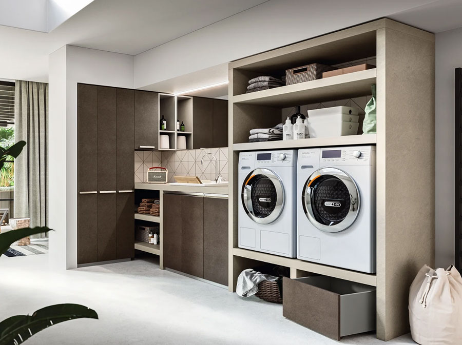 Modello di mobile per lavanderia moderna n.11
