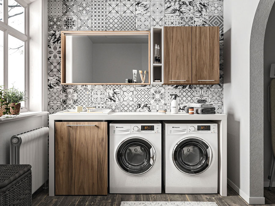 Modello di mobile per lavanderia moderna n.12