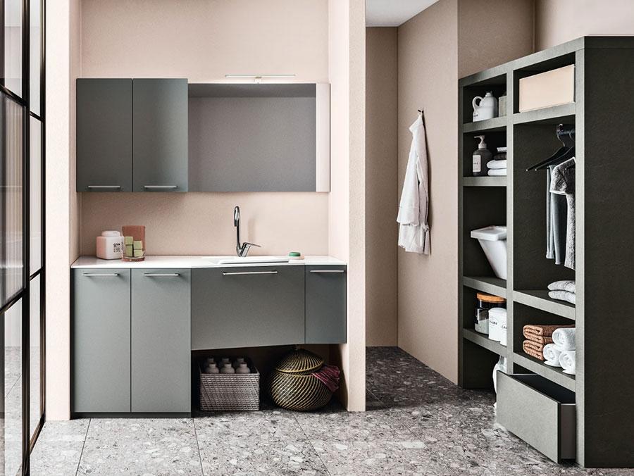 Modello di mobile per lavanderia moderna n.13