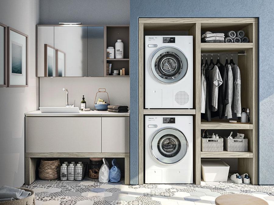 Modello di mobile per lavanderia moderna n.14