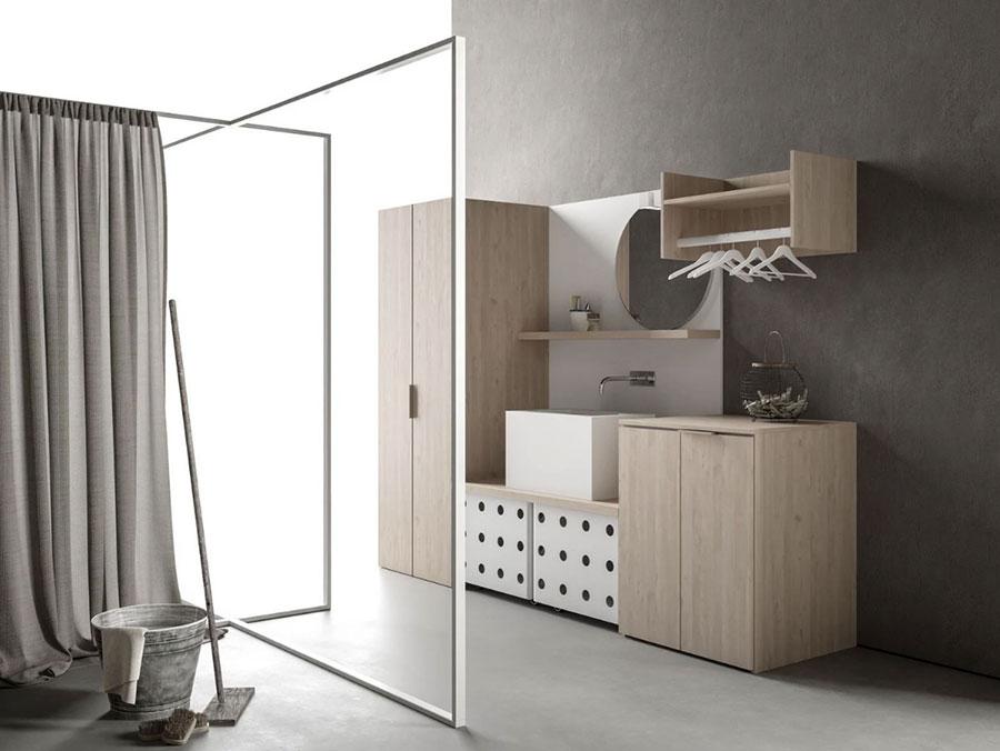 Modello di mobile per lavanderia moderna n.17