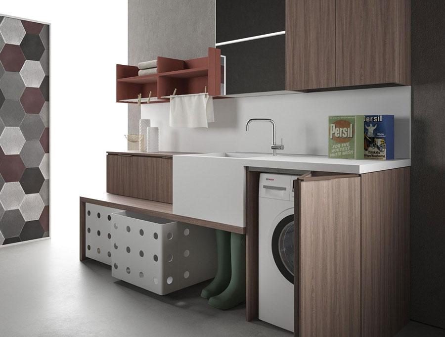 Modello di mobile per lavanderia moderna n.18