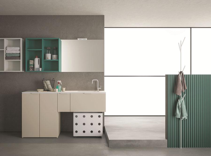 Modello di mobile per lavanderia moderna n.19