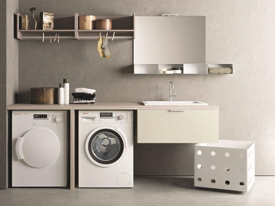 Modello di mobile per lavanderia moderna n.20