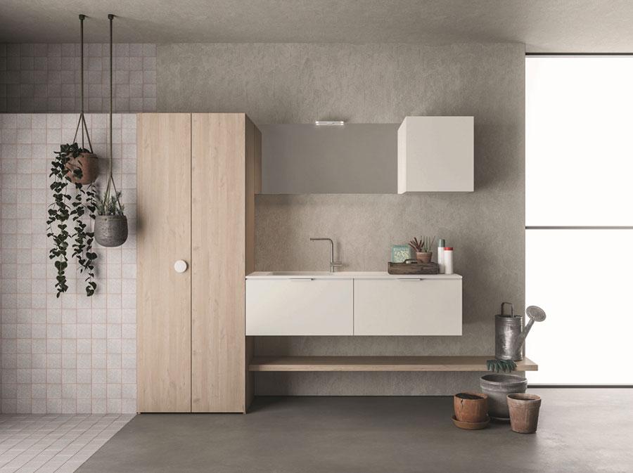 Modello di mobile per lavanderia moderna n.21