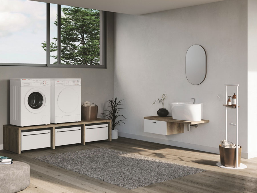 Modello di mobile per lavanderia moderna n.22