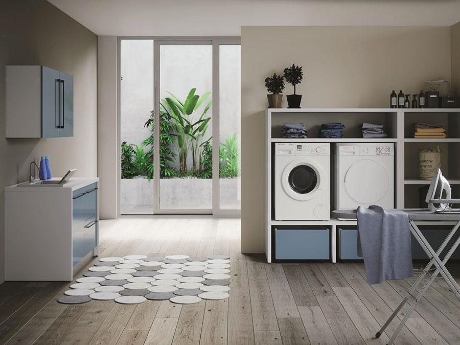 Modello di mobile per lavanderia moderna n.23