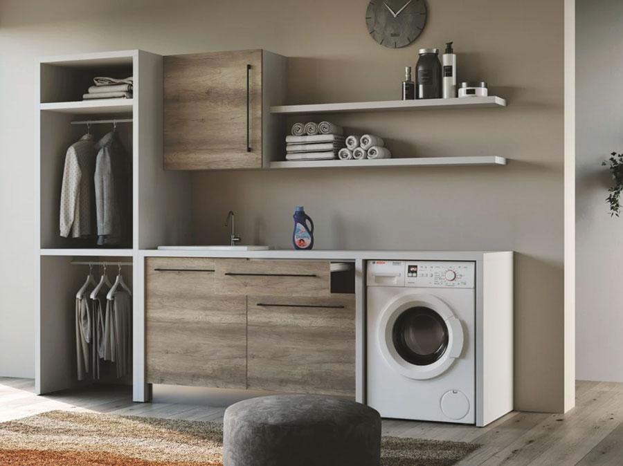 Modello di mobile per lavanderia moderna n.24