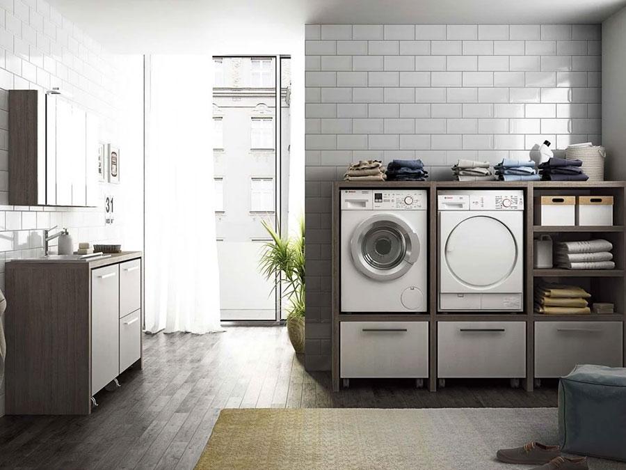 Modello di mobile per lavanderia moderna n.25