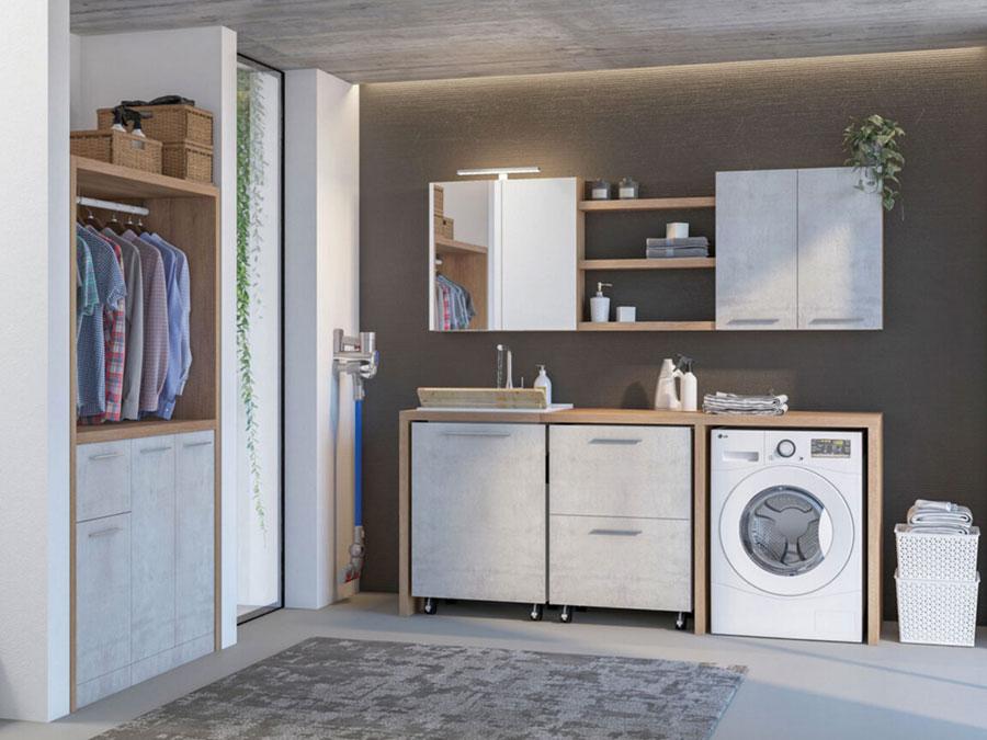 Modello di mobile per lavanderia moderna n.26