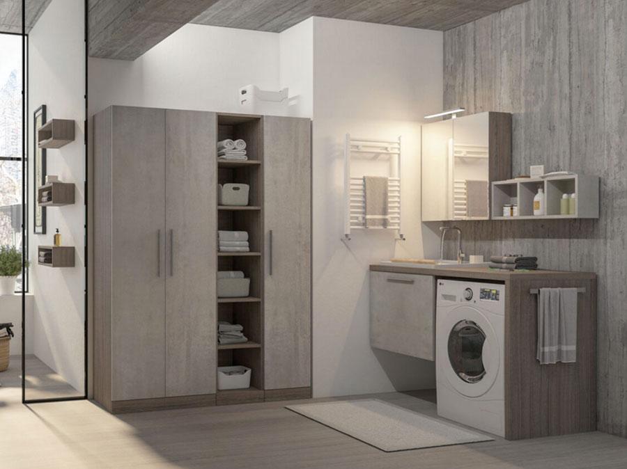 Modello di mobile per lavanderia moderna n.27