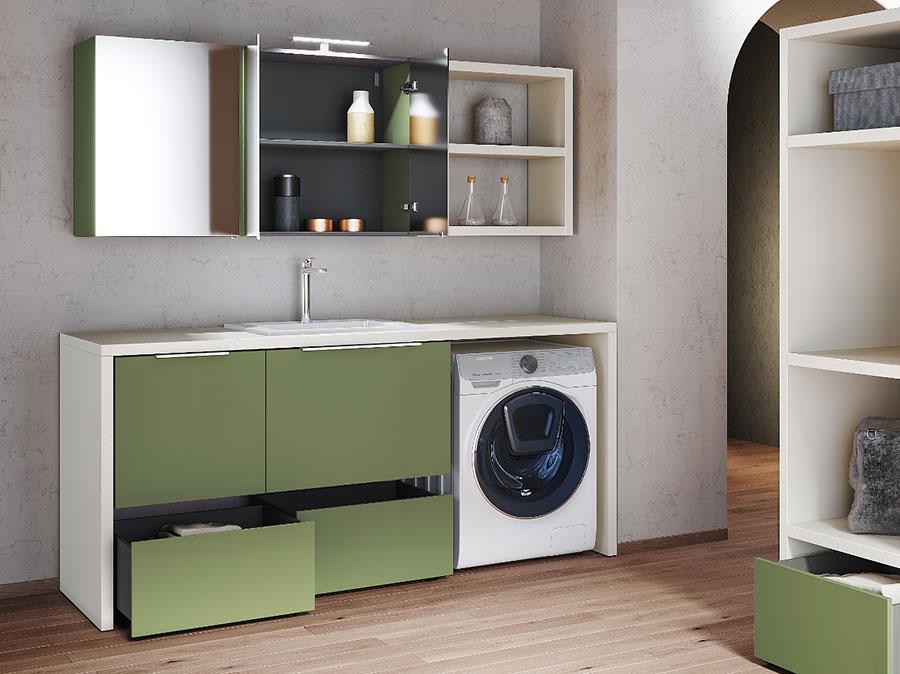 Modello di mobile per lavanderia moderna n.28