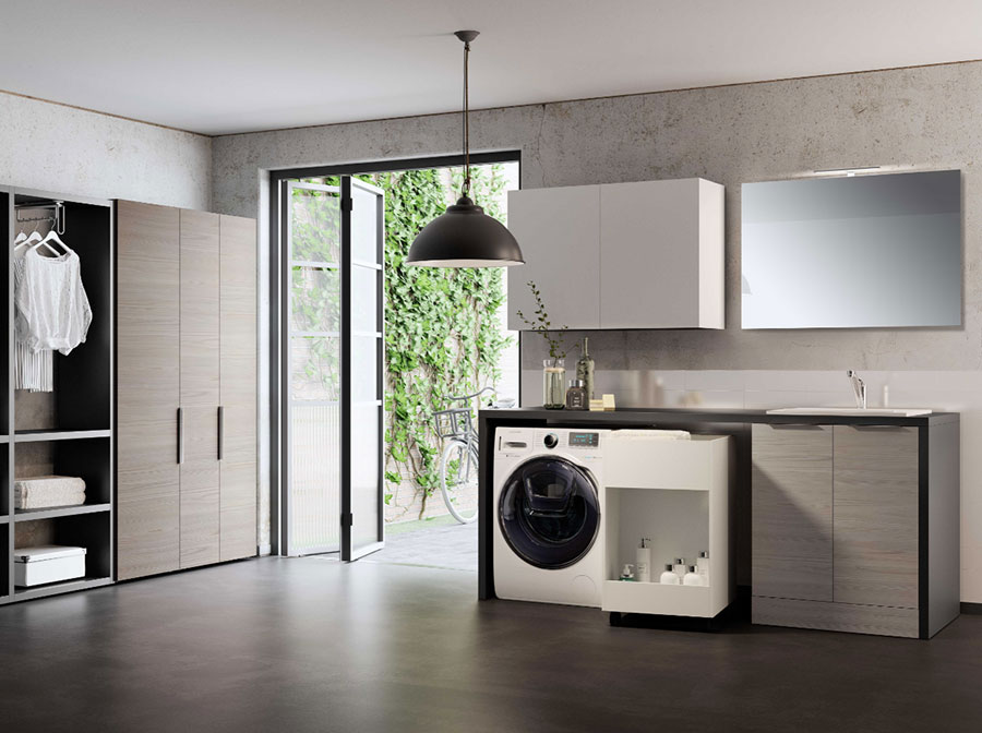 Modello di mobile per lavanderia moderna n.30