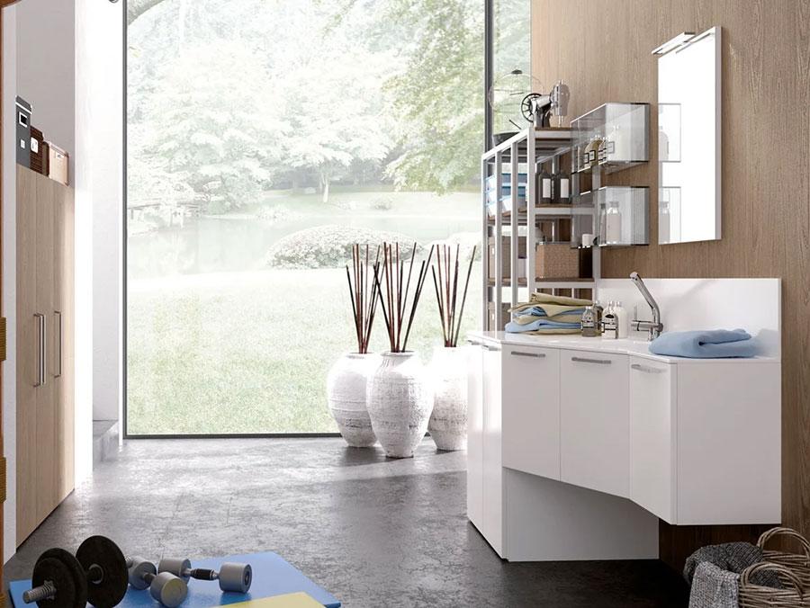 Modello di mobile per lavanderia moderna n.31