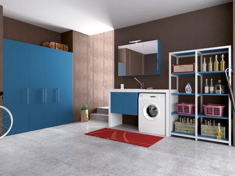 Modello di mobile per lavanderia moderna n.32