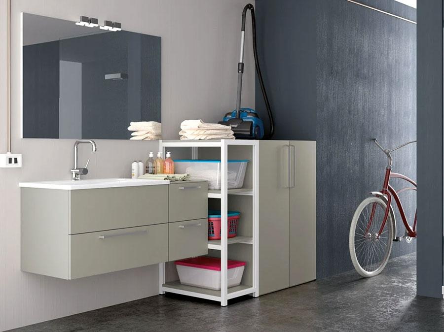 Modello di mobile per lavanderia moderna n.34