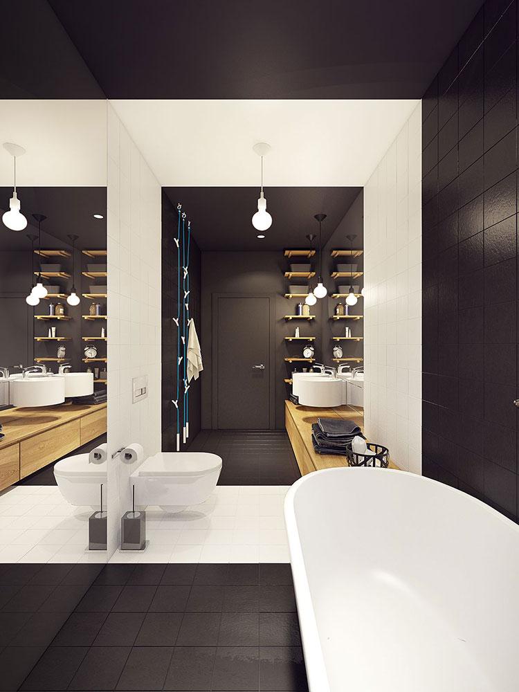Idee per un bagno con pareti colorate particolari n.03