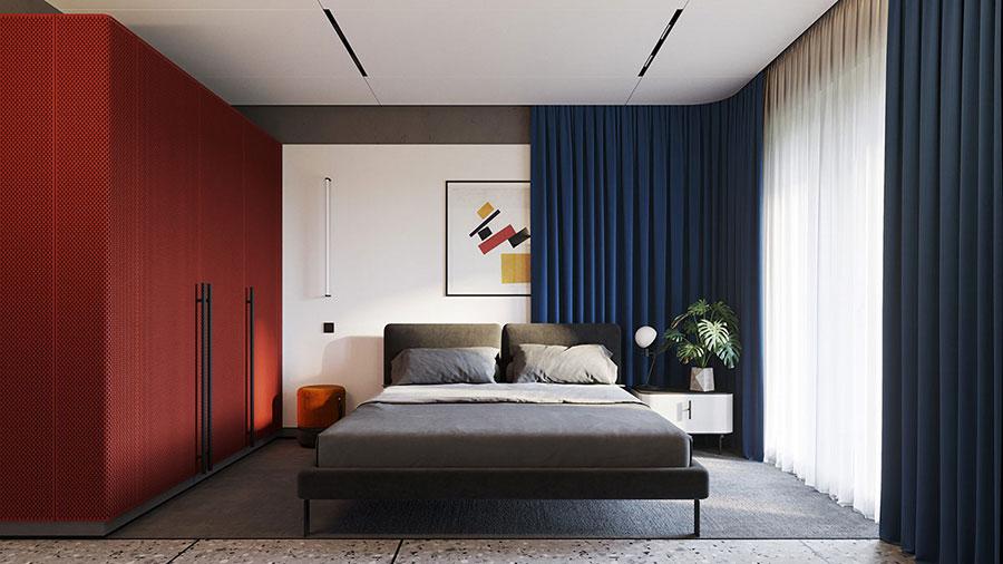 Idee per una camera da letto con pareti colorate particolari n.01