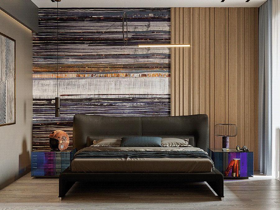 Idee per una camera da letto con pareti colorate particolari n.02
