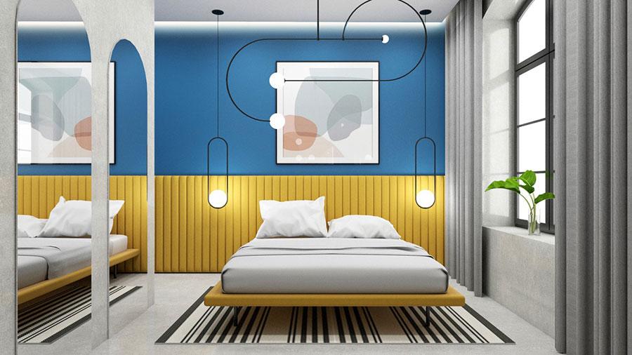 Idee per una camera da letto con pareti colorate particolari n.03