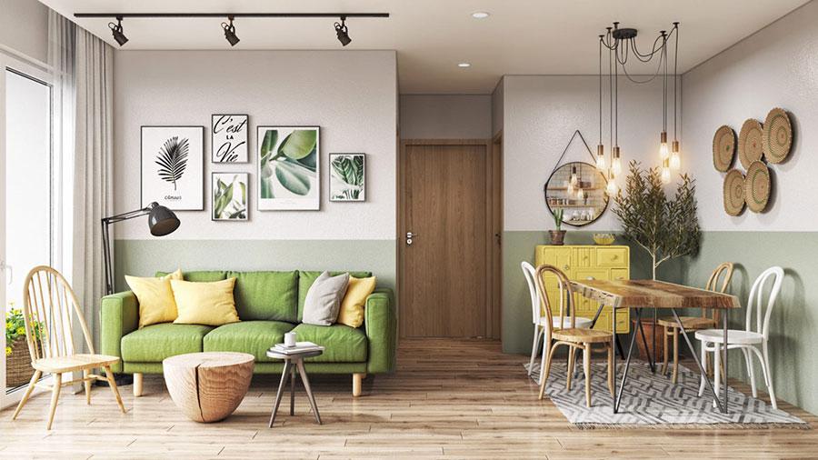 Idee per pareti colorate particolari con fascia n.05