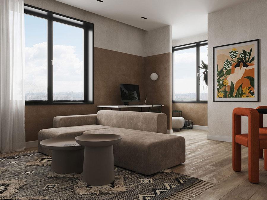 Idee per pareti colorate particolari con fascia n.06