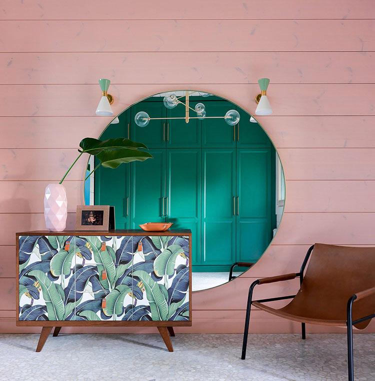 Idee per un ingresso con pareti colorate particolari n.03