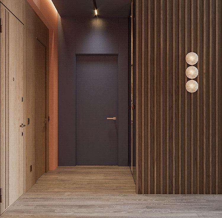 Idee per un ingresso con pareti colorate particolari n.04
